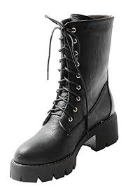 low heel womens boots size 11 guoar s low mid block heel bootie big size toe lace up