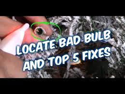 troubleshooting christmas tree lights easy ways how to fix christmas string lights bulbs youtube