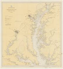 Map Of The Southern States Historical Nautical Charts Of The Southern Part Of The Chesapeake Bay