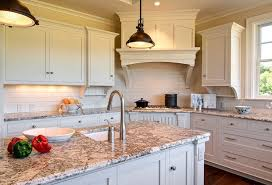 Ivory Colored Kitchen Cabinets Ivory Cabinets With Cherry Kitchen Island Traditional Kitchen