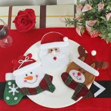Christmas Decorations Wholesale Online by Wholesale 3pcs Christmas Table Decoration Knives And Forks Bags