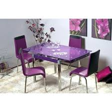 Extendable Dining Table And 4 Chairs Purple Dining Room Set Purple Dining Room Table Purple Glass