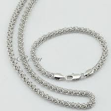 white gold jewelry bracelet images 1pcs 5mm white gold jewelry sets men women white gold color chain jpg