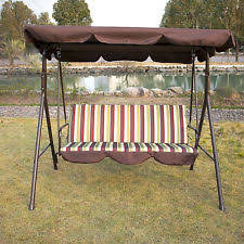 Swings For Patios With Canopy Patio U0026 Garden Swings Ebay
