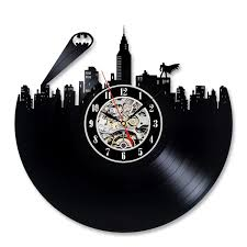 batman design vinyl record creative wall clock gift amazon co uk
