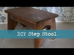 Wooden Step Stool Plans Free by How To Make A Simple Step Stool Youtube