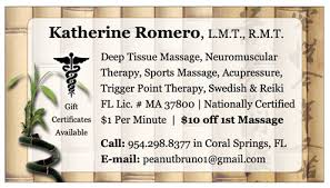 Sports Massage Business Cards Business Cards Ronkin Consulting