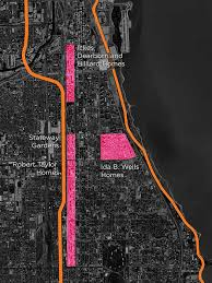 chicago housing projects map look at this demolished