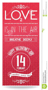just valentines day flyer with text design stock vector