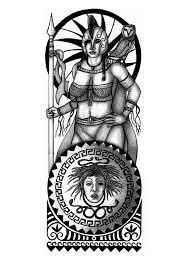 athena greek warrior goddess tattoo design picture athena