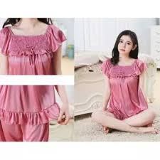 Baju Tidur bolster store sleepwear silk pajamas