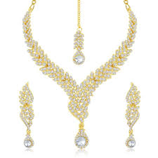 gold necklace with stones images Buy sukkhi fine gold plated australian diamond stone studded jpg