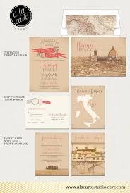 destination wedding invitation tuscany florence italy wedding