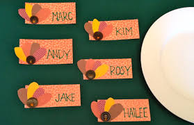 easy turkey place cards craftbnb