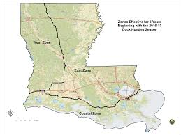 Louisiana State Map by Approved 2016 17 Waterfowl Hunting Zone Maps Louisiana