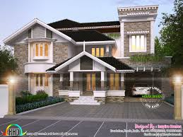 luxurious modern mix traditional home and plan kerala home