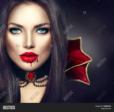 vampire halloween woman portrait beauty vampire with