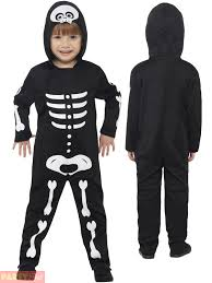 Skeleton Halloween Costume Kids Toddler Cat Skeleton Pumpkin Costume Child Halloween Boy