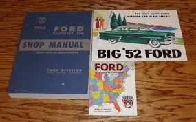1952 ford passenger car shop service manual owners manual sales