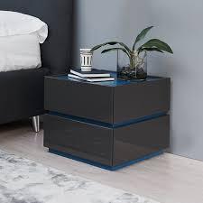 bedside table como designer bedside cabinet taupe wenge