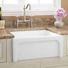 White Undermount Kitchen Sink Kohler Whitehaven Undermount Farmhouse Apron Front Cast Iron 36 In