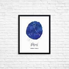 printable art pisces february 19 march 20 constellation