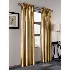treasure faux silk curtain panel set of 2 walmart com
