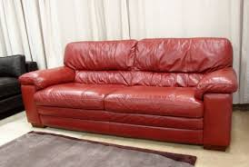 Leather Chaise Couch Small Red Leather Sofa Bed Centerfieldbar Com