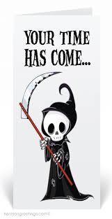 grim reaper halloween greeting card 12656 harrison greetings