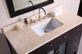 bathroom dark wood single sink vanity combine with stainless
