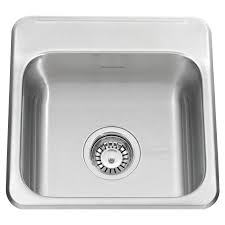 ADA Single Bowl  Inch  Gauge Kitchen Sink American Standard - Brushed steel kitchen sinks