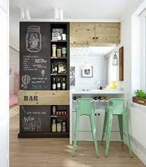 cuisine mur noir décoration cuisine personnalisée à la craie