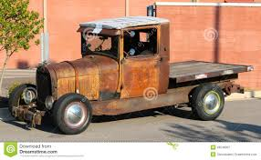 Ford Old Truck Models - rusted out early 1940s ford flat bed pick up truck stock photo