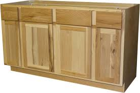 unfinished kitchen cabinets inset doors quality one 60 x 34 1 2 sink kitchen base cabinet at menards