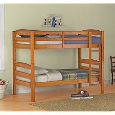 Bunk Beds Wood Wood Bunk Bed Pine Finish Kitchen