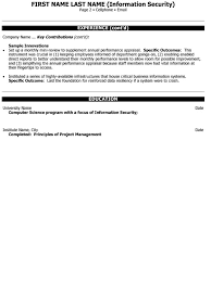 Information Security Resume Template Director Infrastructure Resume Sample U0026 Template