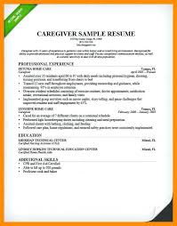 caregiver resume exles sle resume for caregiver how to write a nanny resume caregiver
