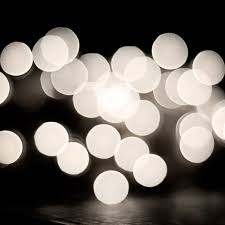 white lights black and white abstract photography bokeh lights print