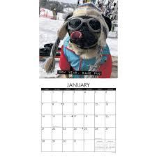 doug doug the pug wall calendar 2018 willow creek press calendars