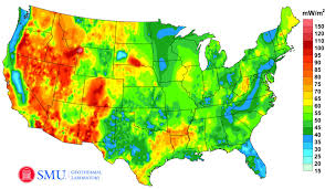 Map Of The Continental United States by Official Google Org Blog A New Geothermal Map Of The United States