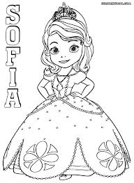image sofia coloring kids princess sofia