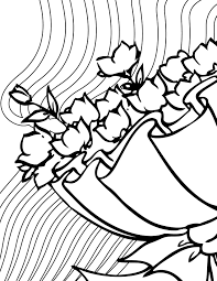 bridal bouquet coloring page handipoints