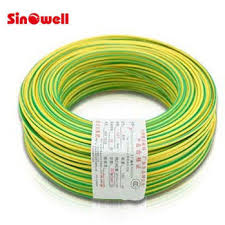 copper conductor stranded electric wire cable green yellow