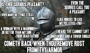 Peasant Meme - thy cannott even hit with a mace thee sodomite reaction images