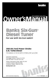 Ford Diesel Truck Manuals - banks power ford trucks diesel u002703 07 6 0l power stroke tuner