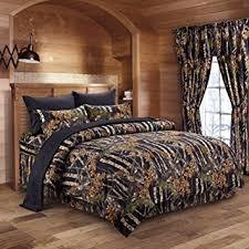 Premium Bedding Sets The Woods Black Camouflage 5pc Premium Luxury