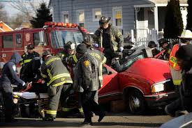 two injured in two car crash in bridgeport connecticut post