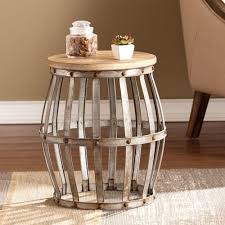 Drum Accent Table by Safavieh Polonium Silver End Table Fox5502a The Home Depot