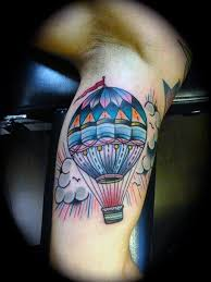 70 air balloon tattoo designs for men basket full of ideas