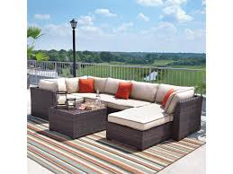 Outdoor Coffee Table Set Signature Design By Ashley Renway Outdoor Sectional Set With